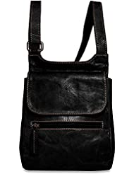 Jack Georges Voyager Collection Leather Slim Crossbody Bag
