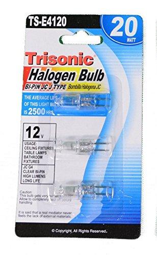 Halogen JC Type Light Bulb G4 Base 12 Volt 20 Watt - JC G4 12V 20W Pack of 3 Bulbs (12v Base G4)