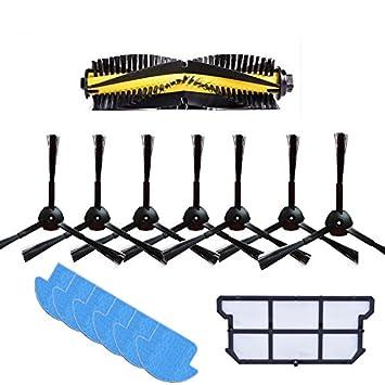 YTT 1x cepillo principal + 6x cepillo lateral + 7x paño de limpieza ...