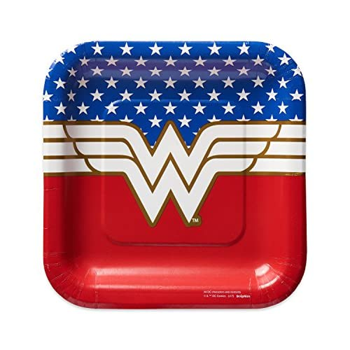 American Greetings Wonder Woman 8 Count Dessert Square Plates for sale