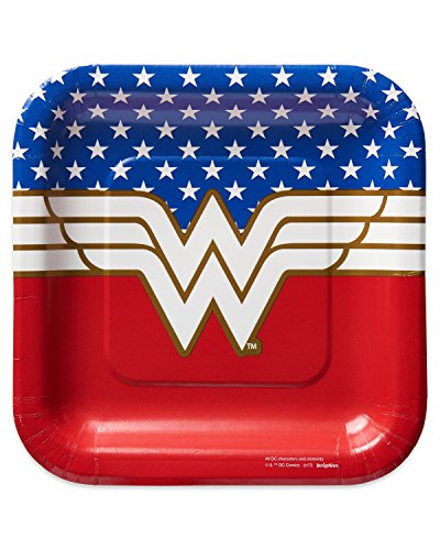 American Greetings Wonder Woman Paper Dessert Plates,8-Count]()