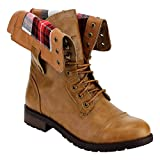 Best Refresh Combat Boots - Refresh FN37 Women's Folded Cuff Back Zipper Block Review