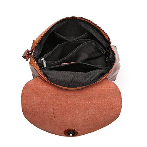 Handle Handbag Shoulder Bag Women Patent Top Tote 11x4x11inch Leather brown Purse 28x11x29cm dgOc0qxqIw