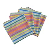 Roostery Stripe Beach Tile Spring Mosaic Organic Sateen Dinner Napkins Spring Fling ~ Field Day ~ by Peacoquettedesigns Set of 4 Dinner Napkins
