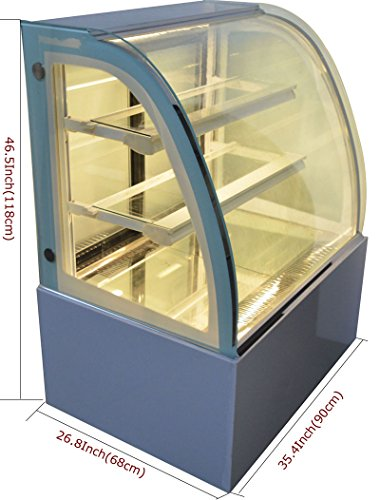 Commercial 220V Refrigerated Bakery Display Cabinet Floor Cake Bakery Deli Cooling Showcase #210082
