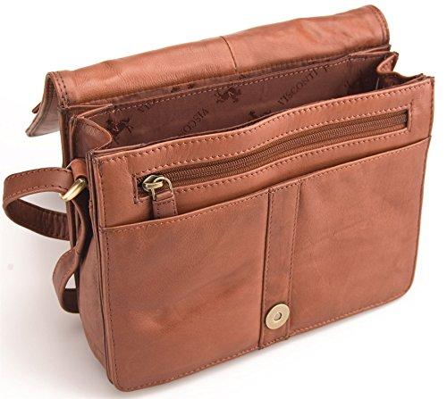 sac souple en cuir femme véritable 02751 à Marron Visconti pour KARA Atlantic Petit bandoulière EqTTzA
