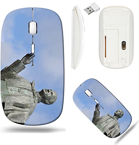 Pope Statue Paul (Liili Wireless Mouse White Base Travel 2.4G Wireless Mice with USB Receiver, Click with 1000 DPI for notebook, pc, laptop, computer, mac book bronze statue of Pope John Paul VI in Leiria Portugal Phot)