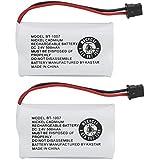 Kastar 2-PACK BBTY0651101 model BT1007 Cordless Phone Battery for Uniden BT-1007 BT-1015, CEZAI2998 DECT1340 DECT1363 DECT1363BK DECT1363-2 DECT1480 Series DECT1560 DECT1580 DECT1588 EZAI2997 EZI2996