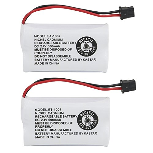 (Kastar 2-Pack BBTY0651101 Model BT1007 Cordless Phone Battery for Uniden BT-1007 BT-1015, CEZAI2998 DECT1340 DECT1363 DECT1363BK DECT1363-2 DECT1480 Series DECT1560 DECT1580 DECT1588 EZAI2997 EZI2996)