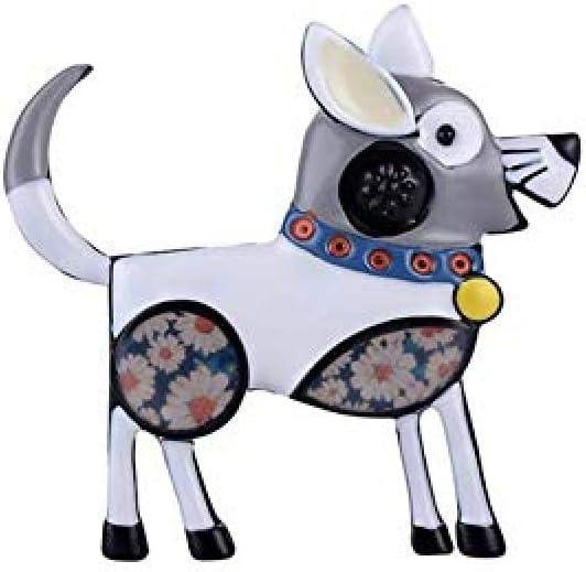 Anti-Lighting Silk Scarf Buckle Coat Western Ornament Badge Gift Brooch Alloy Cow Animal