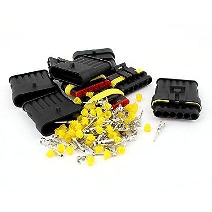 Amazon.com: HID 6P Sealed Adaptador de conector Waterproof 5 Set: Car Electronics