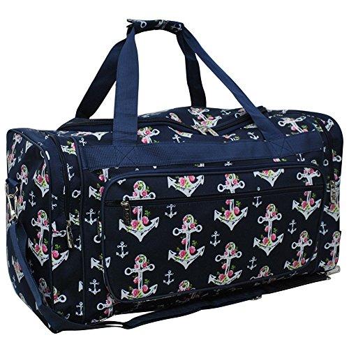 "Rose Anchor NGIL Canvas Carry on Shoulder 23"" Duffle Bag"