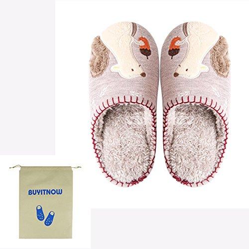 Womens Slip Slippers Anti Cute Home Slippers Animal Pink Plush Slippers Soft BUYITNOW pwqZ7BRR