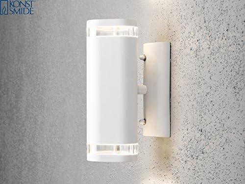 2er-Set Aluminium Up-Down Wandleuchte MODENA weiß, GU10, Höhe 23,5 cm, IP44; Konstsmide 7512-250