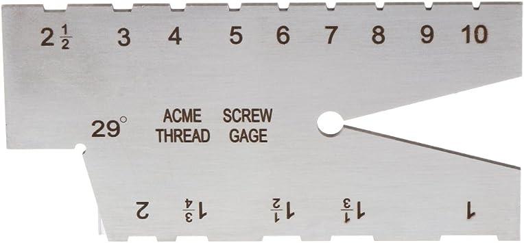 29 degree Acme Screw Thread Gauge Gage Grinding Stainless Steel Welding Ruler