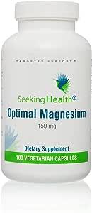 Optimal Magnesium | 100 Vegetarian Capsules | Seeking Health | Provides 150 mg of Pure Magnesium | Magnesium Supplement
