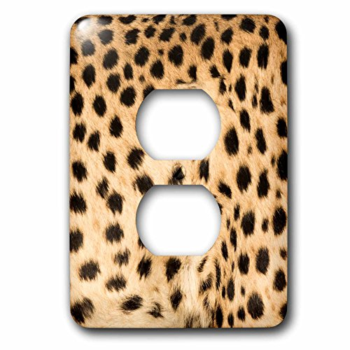 3dRose Danita Delimont - Patterns - Africa, Namibia, Keetmanshoop. Close up view of cheetah fur. - Light Switch Covers - 2 plug outlet cover (lsp_276513_6) by 3dRose
