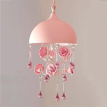 Kronleuchter Lampe Für Esszimmer Schlafzimmer Prinzessin Mädchen Zimmer  Hochzeit Handgefertigte Keramik Rose Blumen Rosa Deckenbeleuchtung E14