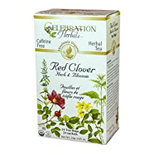 Celebration Herbals Red Clover Herb and Blossom Tea Organic 24 Tea Bag, 24Gm