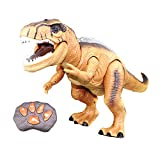 YIJIATOYS Dinosaur Kids Toys, Tyrannosaurus RC Dinosaurs Figures Set for Boys Girls Toy Large Size with Realistic Looking Roaring Spraying Shaking Light Up Eyes Function for Children Birthday Gifts