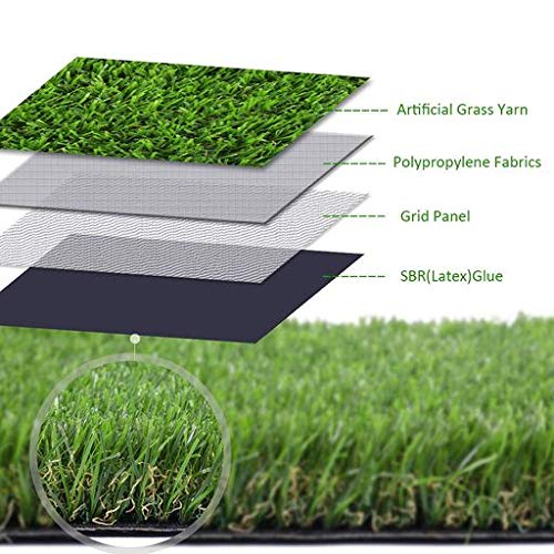 GL Artificial Grass Turf Lawn, 1.38inch Pile Height Faux Grass, Realistic Synthetic Grass Mat for Dogs, Indoor Outdoor Garden Turf 6.5 FT x10 FT(65 Square FT)
