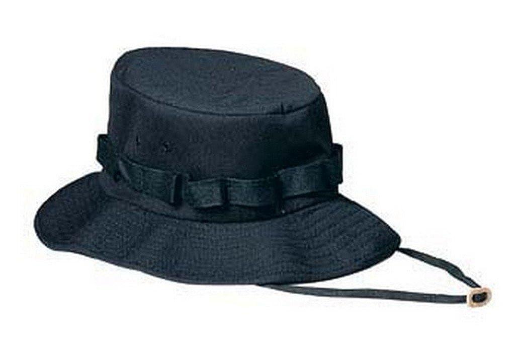 Amazon.com  Black Military Jungle Hat  Clothing 672afb6aa074