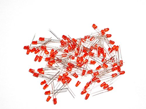 Leds 3mm T1 (100 pcs LED red 3mm, tinted, clear, T-1 package)