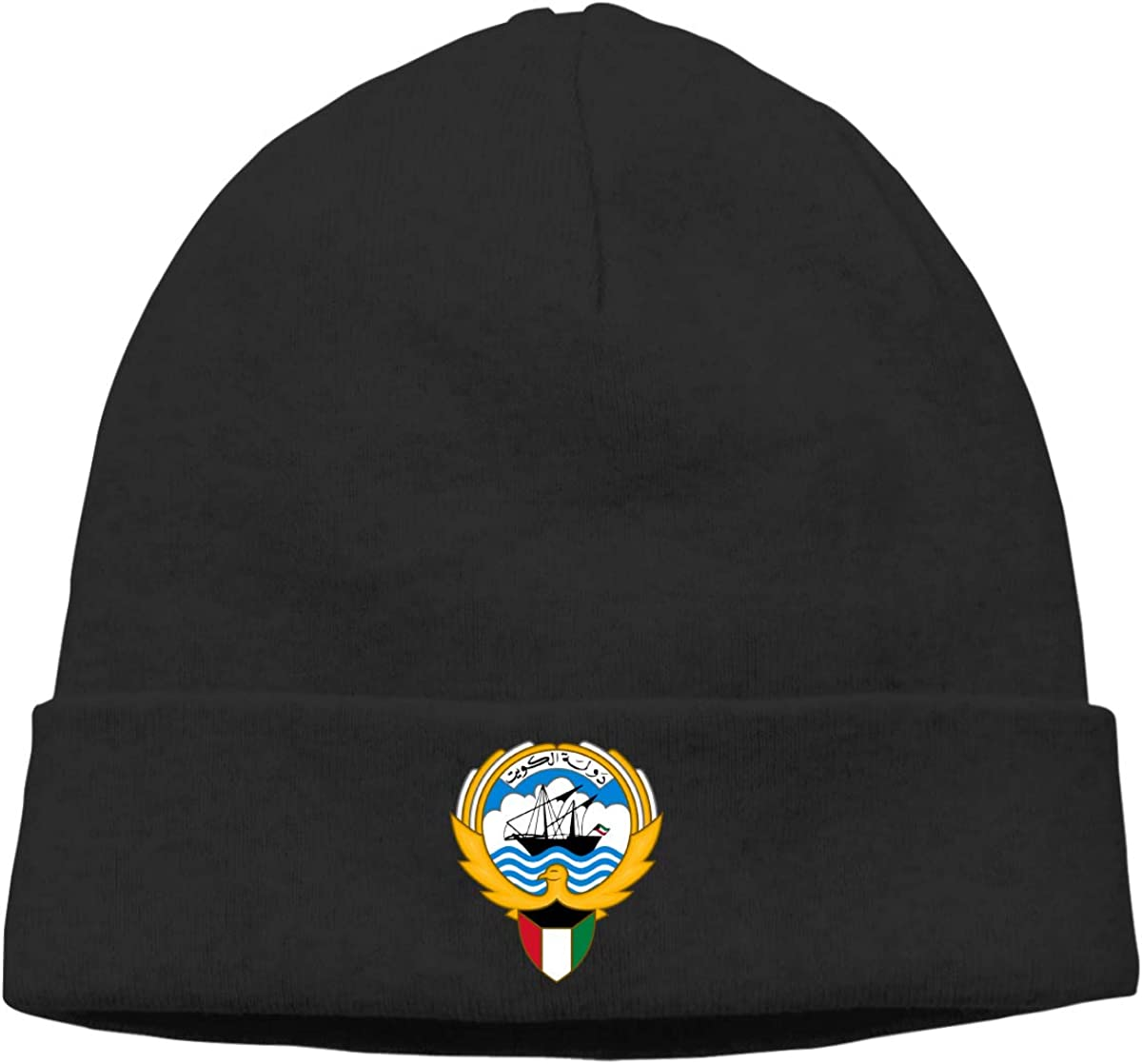 Nskngr Coat of Arms of Kuwait Cap Mens/&Womens Serious Style Knit Hat Cap Slouchy Beanie Hat