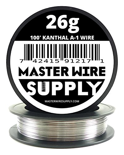 Kanthal A1 - 100' - 26 Gauge Resistance Wire (Best Vape Wire Brand)