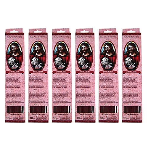 Frankincense Myrrh Highly Fragranced Incense Sticks  240 Incense Sticks /  Approx  240 gm   Sacred Heart of Jesus Prayer  Hand fragranced, infused  with