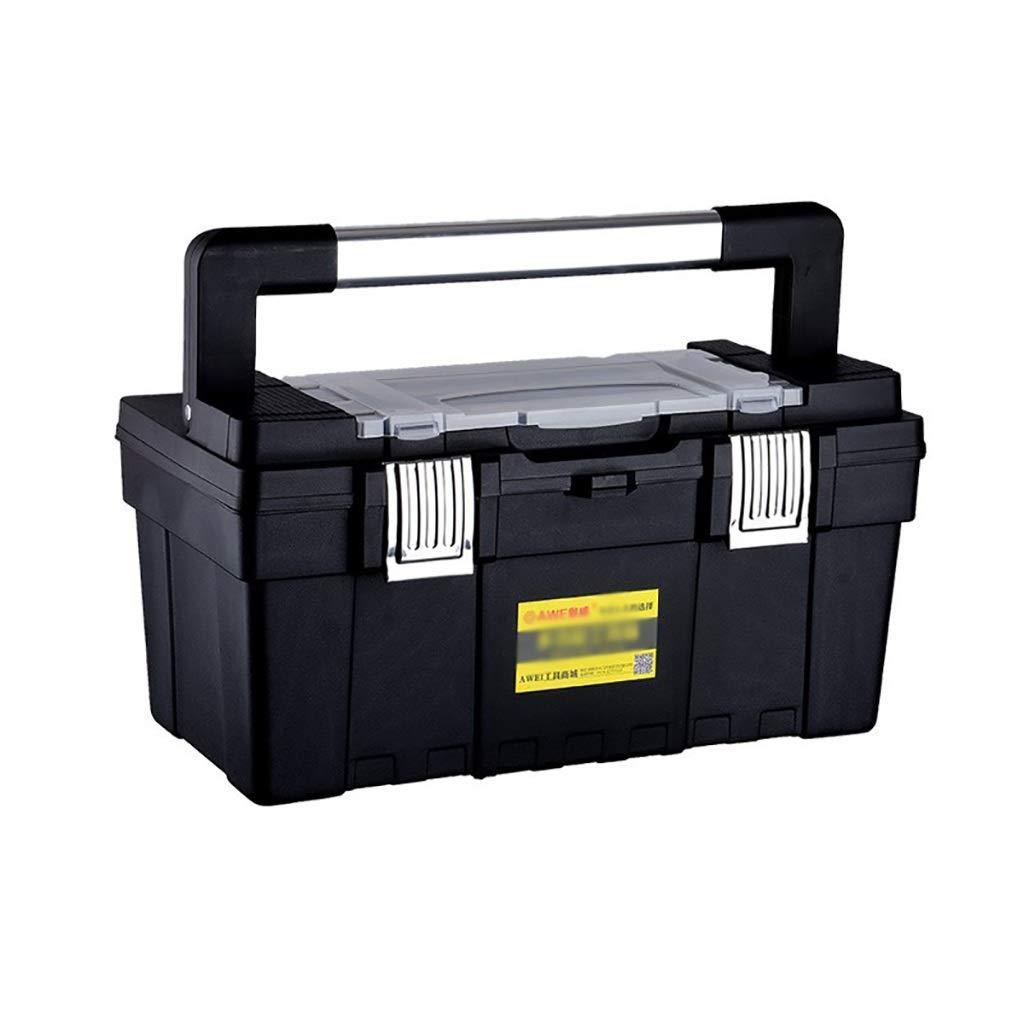 道具箱のプラスチック鉄の車の携帯用厚くされた収納箱、17/20/23インチ (サイズ さいず : 44.5cm*23.5cm*22.5cm) B07Q989V7M  44.5cm*23.5cm*22.5cm