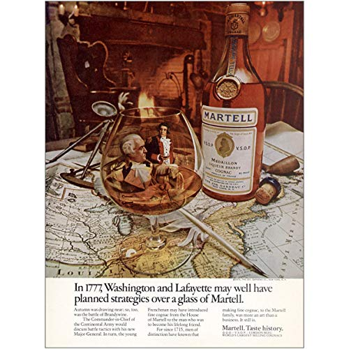 - RelicPaper 1973 Martell Cognac: Washington and Lafayette May Have Planned, Martell Print Ad