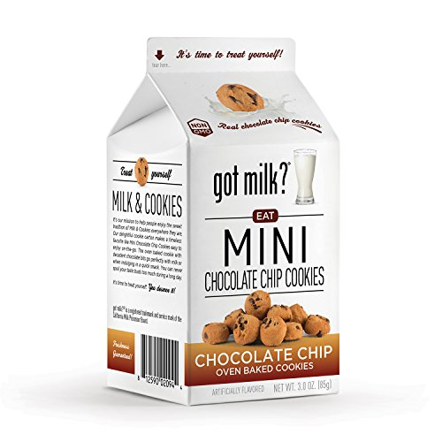 got milk? Mini Chocolate Chip Cookies, 3 Ounce (Pack of (Mini Milk Chocolate Bottle)