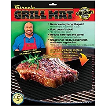 Amazon Com Miracle Grill Mat Set Of 2 Mats Barbecue