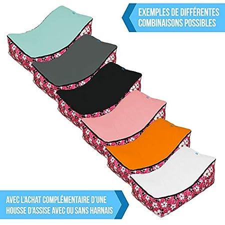 5 coloris poign/ée de transport et 2 assises Norme NF EN12790 Monsieur B/éb/é /® Transat pouf b/éb/é avec 2 poches de rangement