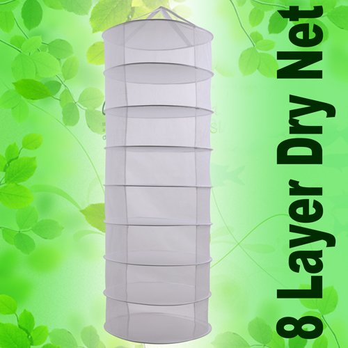 Indoor Garden Hydroponic 8 Layer Plant Herb Drying Rack Hang
