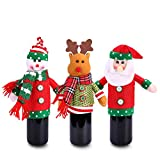 Konsait Ugly Sweater Christmas Party Kit, Christmas Wine Bottle Cover(3pack) for Wine Beer Water Bottles for Christmas Party Favors Supplies Xmas Party Table Decoration Decor Holiday Party Gift