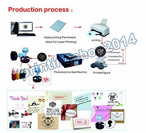 Professional Self Inking Flash Stamp Seal Maker Engraver Photosensitive Engraving Machine 110V