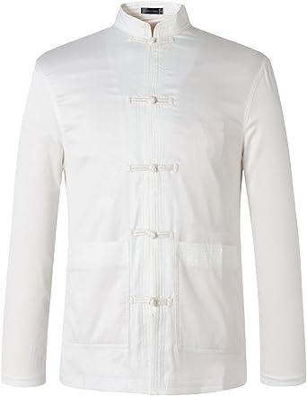 jeansian Hombre Estilo Etnico Retro Cardigan Camisa China ...