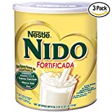 NESTLE NIDO Fortificada Dry Milk 56.3 Ounce. Canister (3 Pack)
