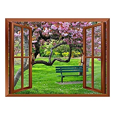 Cherry Blossom Inside a Window Removable Wall Sticker...