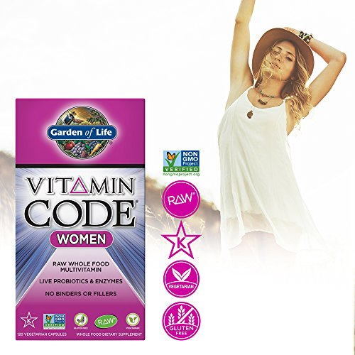 Garden of Life Multivitamin for Women - Vitamin Code Women's Raw Whole Food Vitamin Supplement with Probiotics, Vegetarian, 120 Capsules by Garden of Life (Image #4)