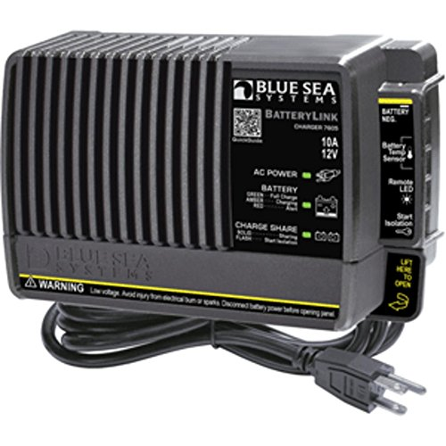 Blue Sea 7605 BatteryLink® Charger – 10Amp – 2-Bank Marine , Boating Equipment