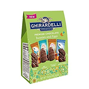 Ghirardelli Spring Milk and Caramel Egg and Bunny Shapes Bag, 15.6 Ounce