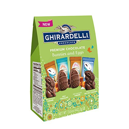 Ghirardelli Spring Milk and Caramel Egg and Bunny Shapes Bag, 15.6 Ounce (Ghirardelli Chocolate Milk)