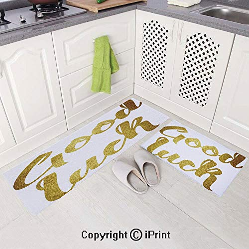 - Non-Slip Soft Kitchen Mat Bath Rug Doormat Runner Carpet Set(19.6