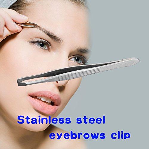 Lady Shape Tool Stainless Steel Eyebrow Clip Tweezer Beauty Favor