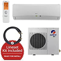 Gree GWH18TC-D3DNA1A-LE/LS1458FF25W- 18,000 BTU Wall Mount Mini Split Air Conditioner Heat Pump 208-230V & FREE 25 Line Set