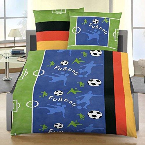 Fußball-Bettwäsche 135x200cm80x80cm Renforce IDO