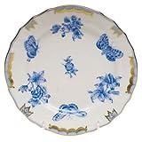 Herend Fortuna Blue Bread & Butter Plate